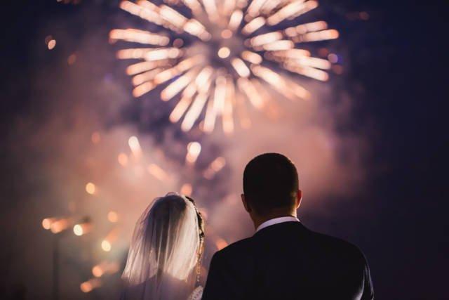 młoda para podczas wesela